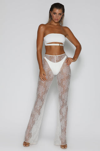 Lolita Lace Pants - White - MESHKI