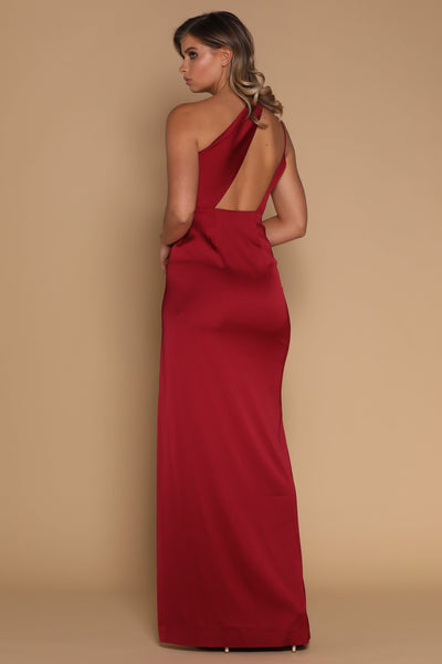 Cartia Maxi Dress - Burgundy - MESHKI