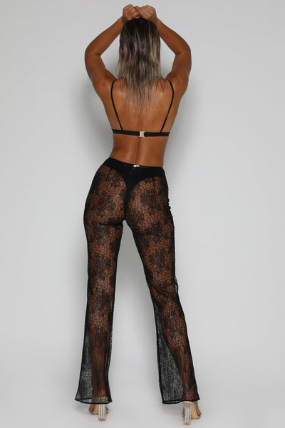 Lolita Lace Pants - Black - MESHKI
