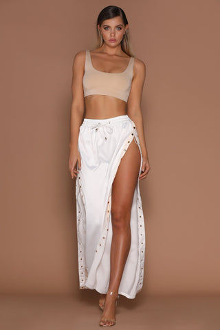 Kimmy Crop Top - Nude ! - MESHKI