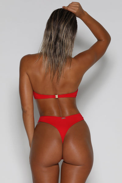Audra High Waisted Bottoms - Red - MESHKI