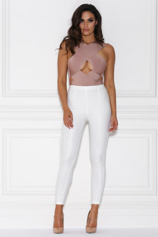Viviana Pants - White Wet Look