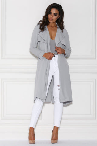 Alanis Trench Coat - Grey