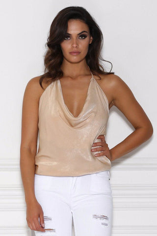 Vivienne Halter Top - Nude SAMPLE 200