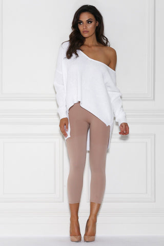 Avannah Cropped Seamless Leggings - Nude