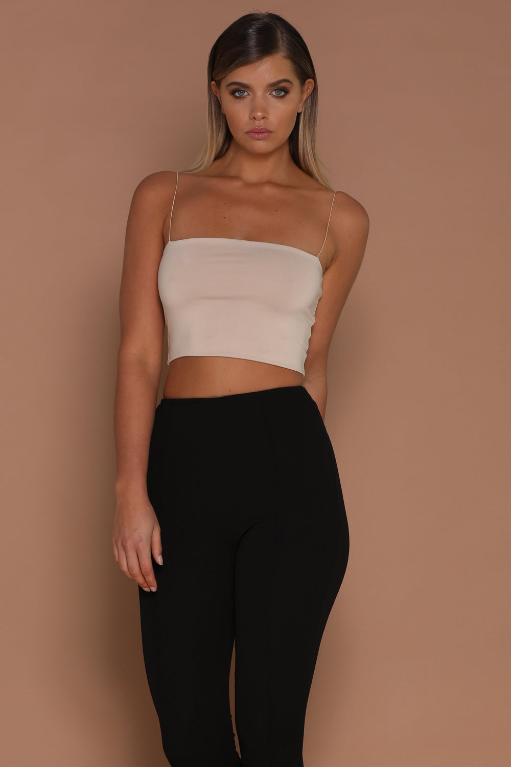 Yvonne Crop Top - Nude - MESHKI