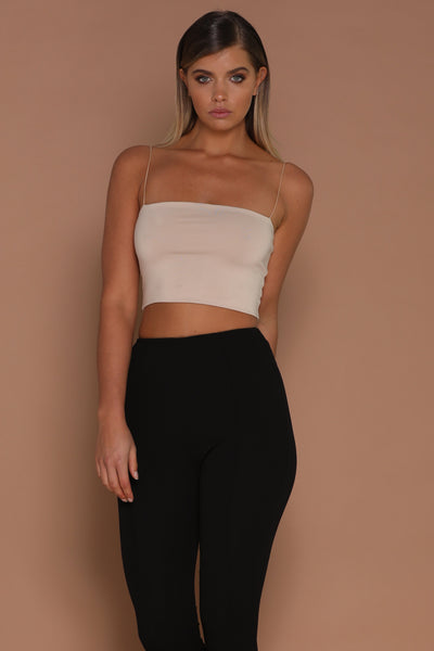 Yvonne Crop Top - Nude