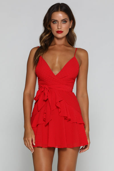 Pareesa Mini Dress - Red - MESHKI