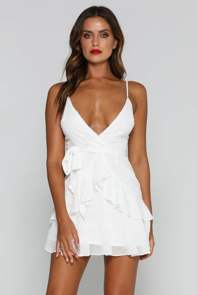 Pareesa Mini Dress - White - MESHKI