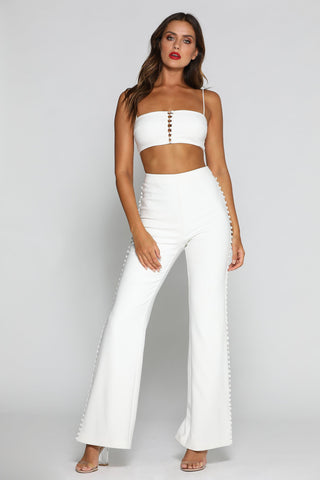 Katria Pants - White - MESHKI