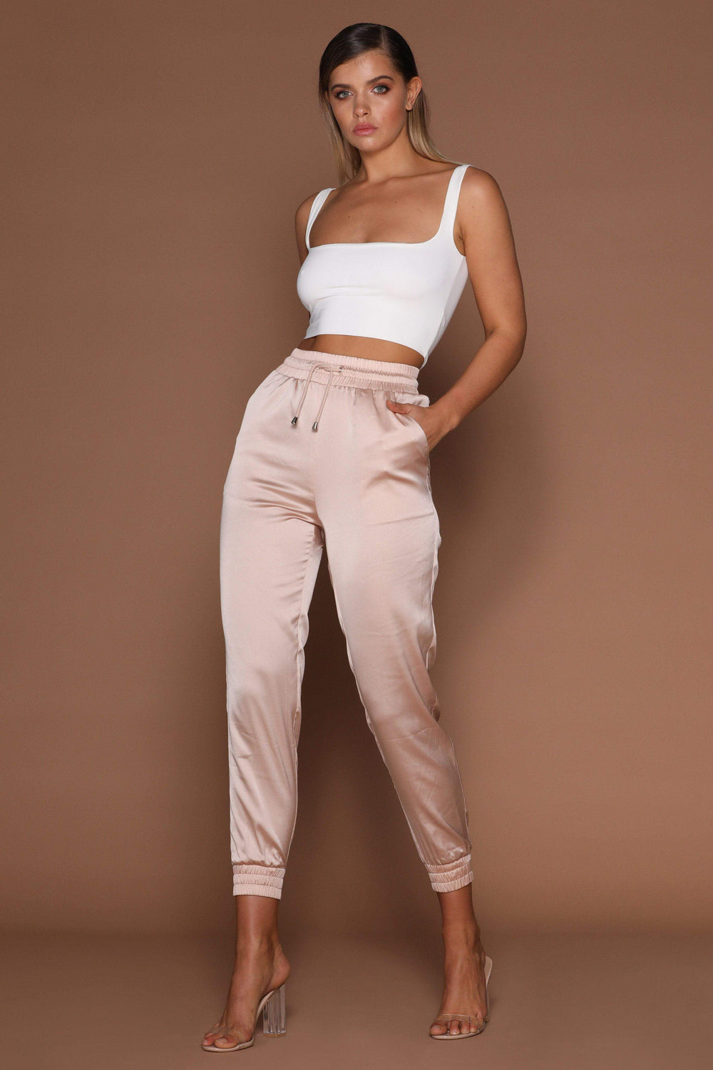 Jazmin Scoop Neck Crop Top - White - MESHKI