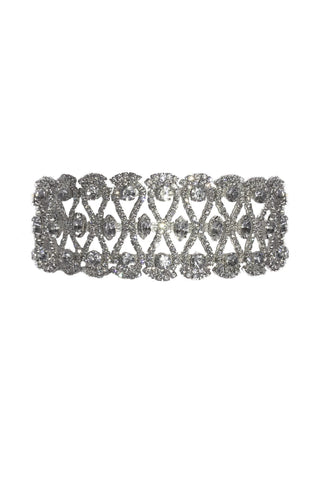 Bronte Diamante Choker Necklace - Silver