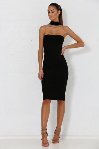 Michaela Multiway Choker Dress - Black