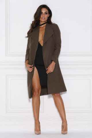 Shadiya Coat - Khaki