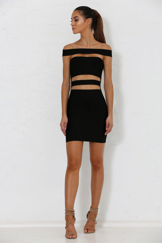 Marcella Bandage Dress - Black