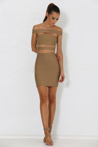 Marcella Bandage Dress - Tan