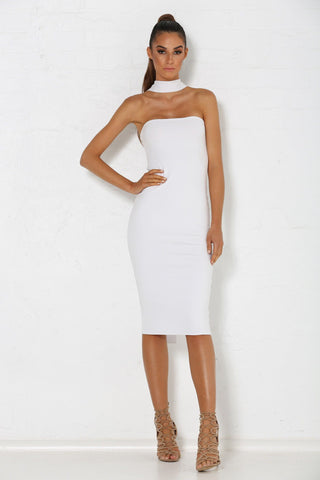 Michaela Multiway Choker Dress - White