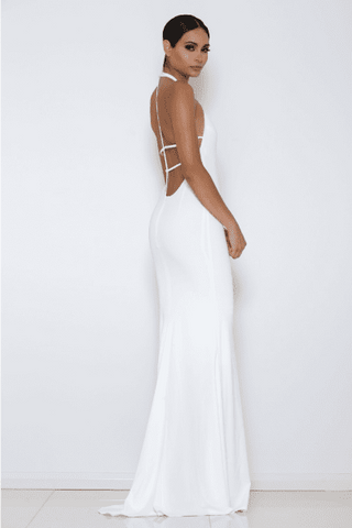 Diaz Gown - White - MESHKI