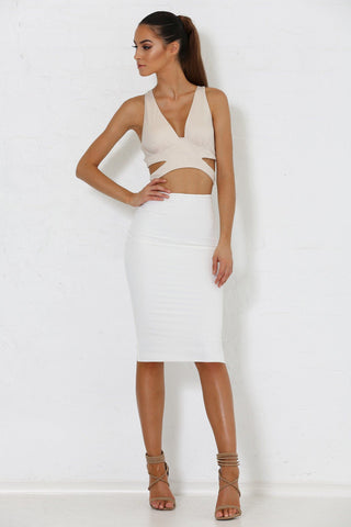 Zulma Multi Way Crop Top - Nude