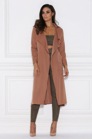 Dulce Duster Trench Coat - Tan