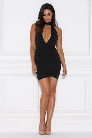 Marissa Bodycon Mini Dress - Black