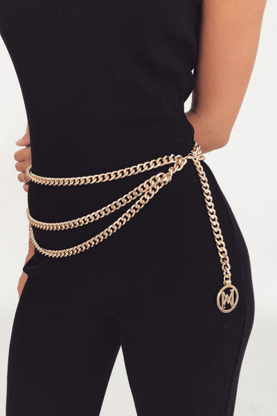 Celeste Multi Chain Belt - Gold - MESHKI
