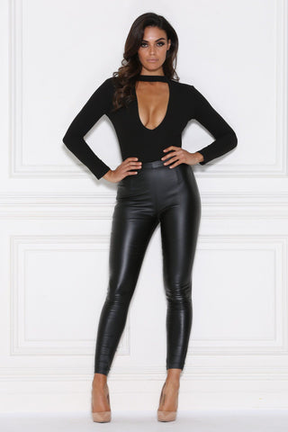 Viviana Pants - Black Wet Look