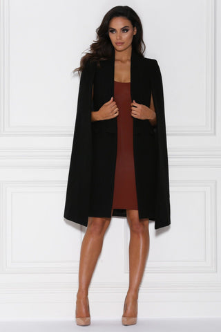Luca Cape Coat - Black