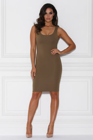 Sia Bodycon Dress - Khaki