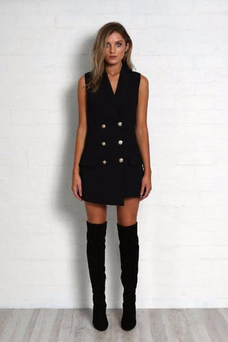 Kendall Vest Dress - Black
