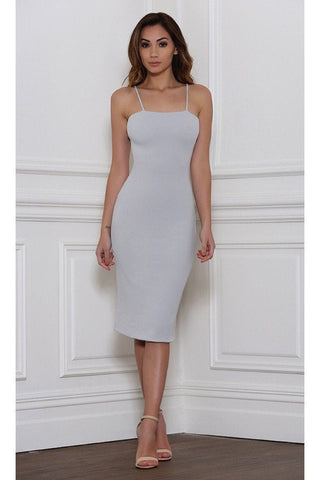Kori Bodycon Midi Dress - Dove