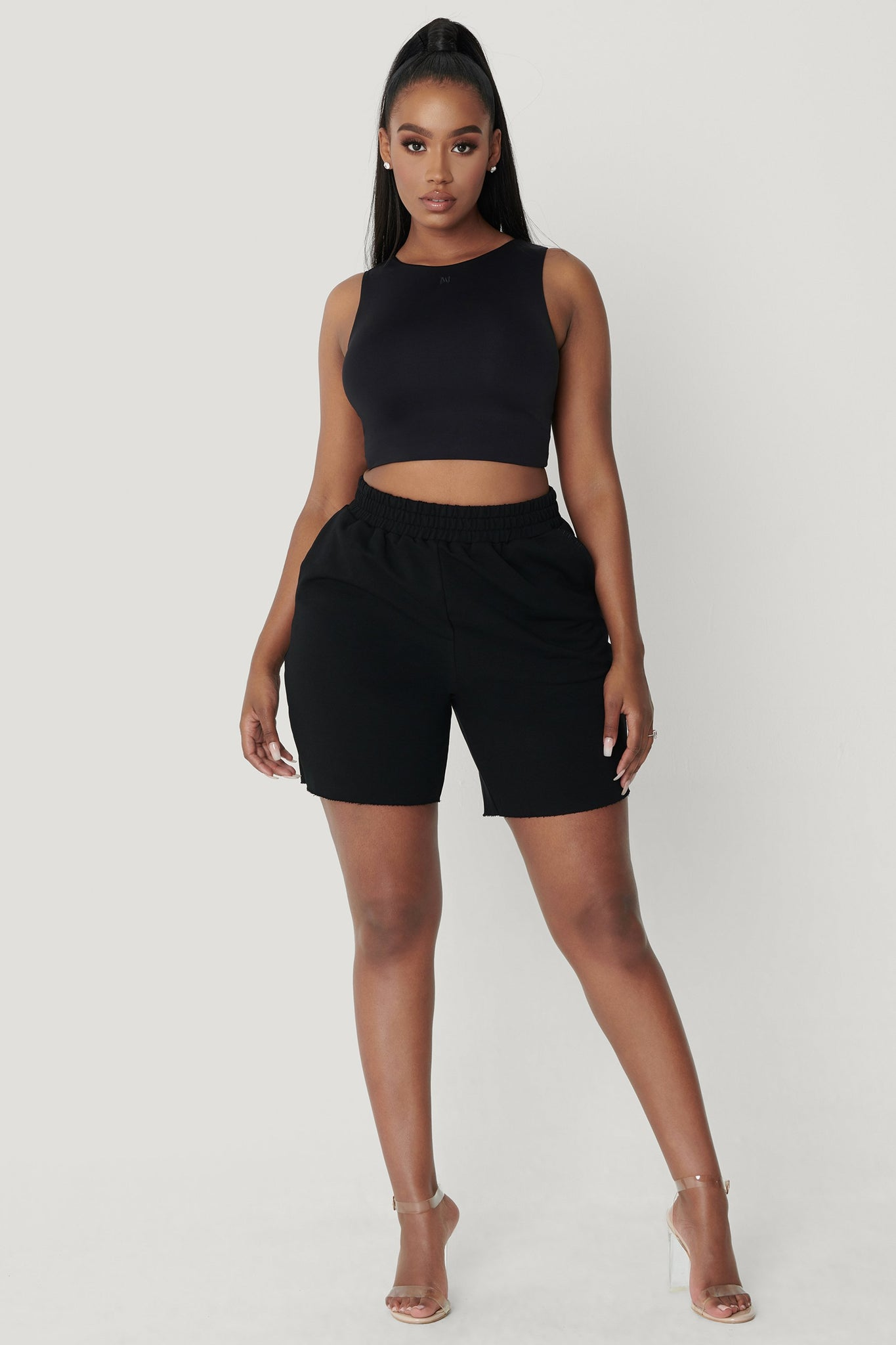 Lina Sleeveless Crop Top - Black - MESHKI