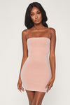 Mia Thin Strap Shimmer Dress - Pink
