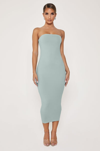 Emilee Strapless Midaxi Dress - Storm