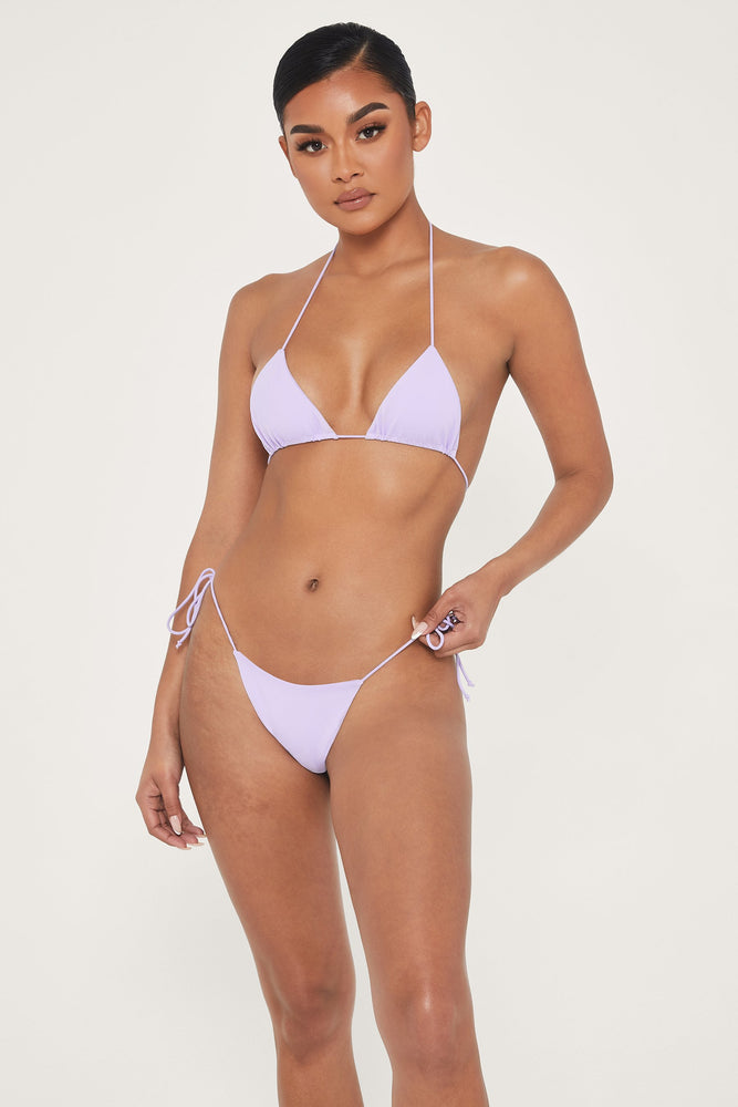 Amalia Tie Up Bikini Bottoms - Lilac - MESHKI