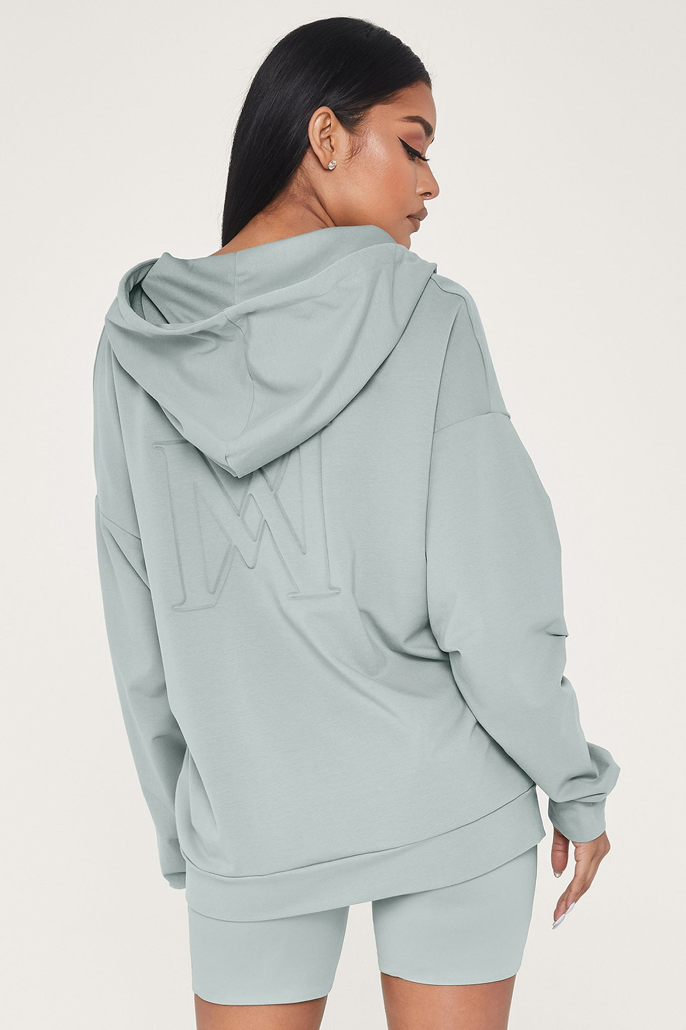 Maia Long Sleeve Zip Up Hoodie Jacket - Storm - MESHKI