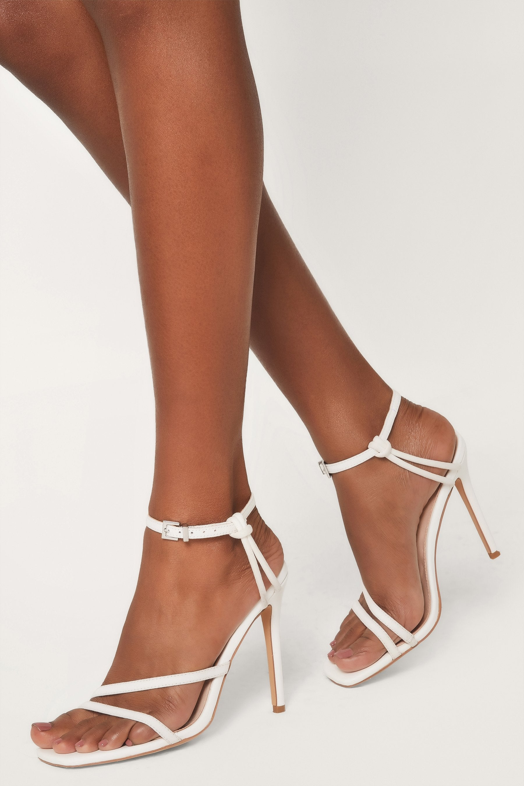 Dimity Strappy High Heel Sandals White