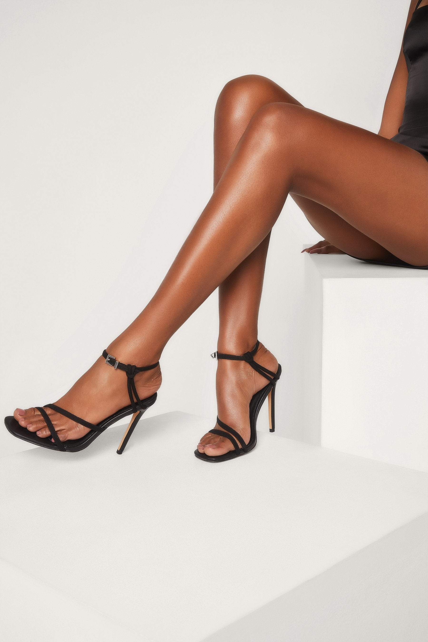 Dimity Strappy High Heel Sandals Black