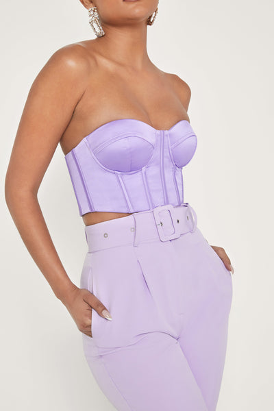 Rosella Strapless Bustier - Lilac