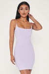 Veda Thin Strap Scoop Neck Dress - Lilac