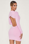 Rayne Long Sleeve Mini Dress - Pink