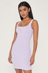Estelle Thick Strap Square Neck Mini Dress - Lilac