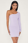 Mya One Shoulder Dress - Lilac