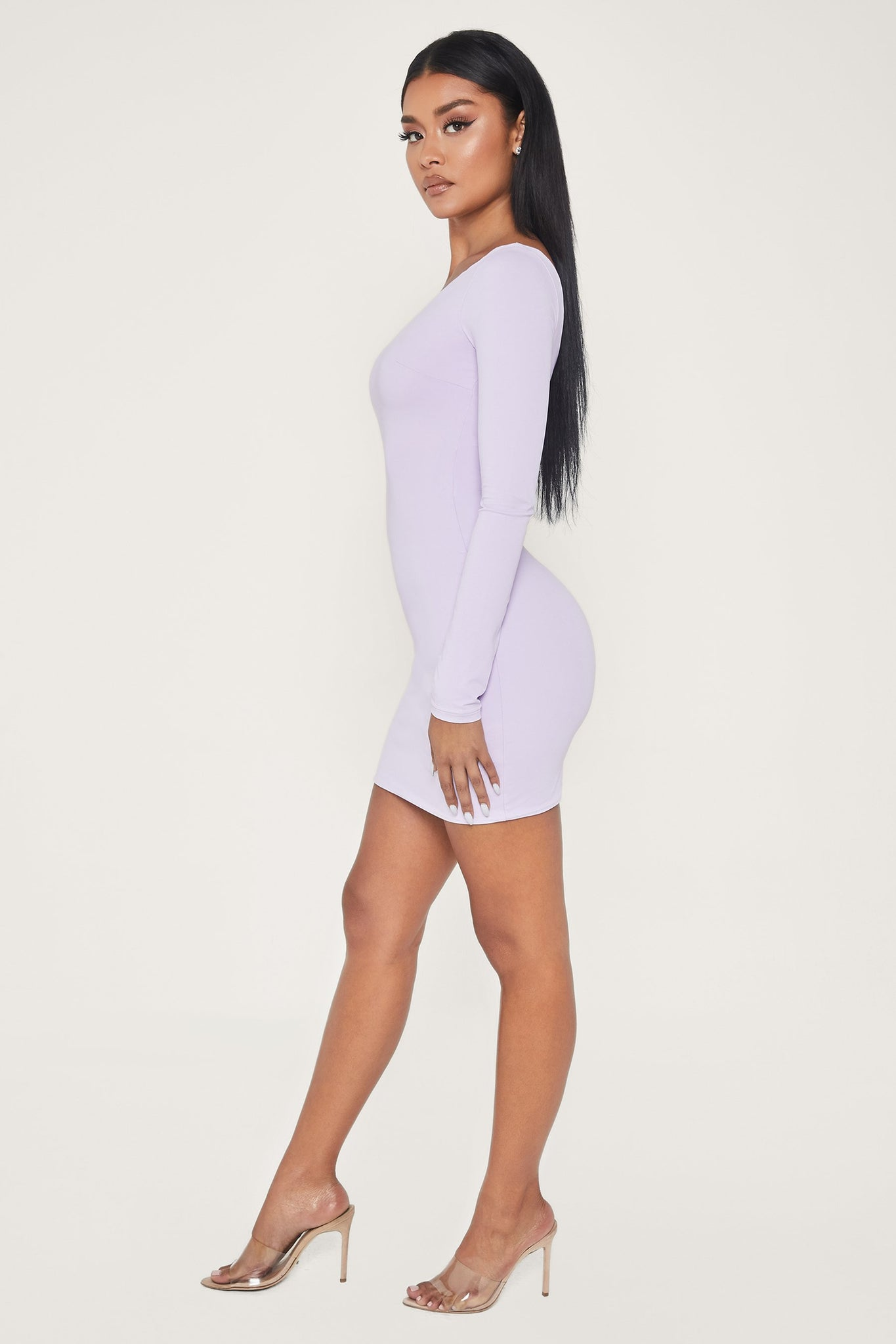 Mya One Shoulder Dress - Lilac - MESHKI