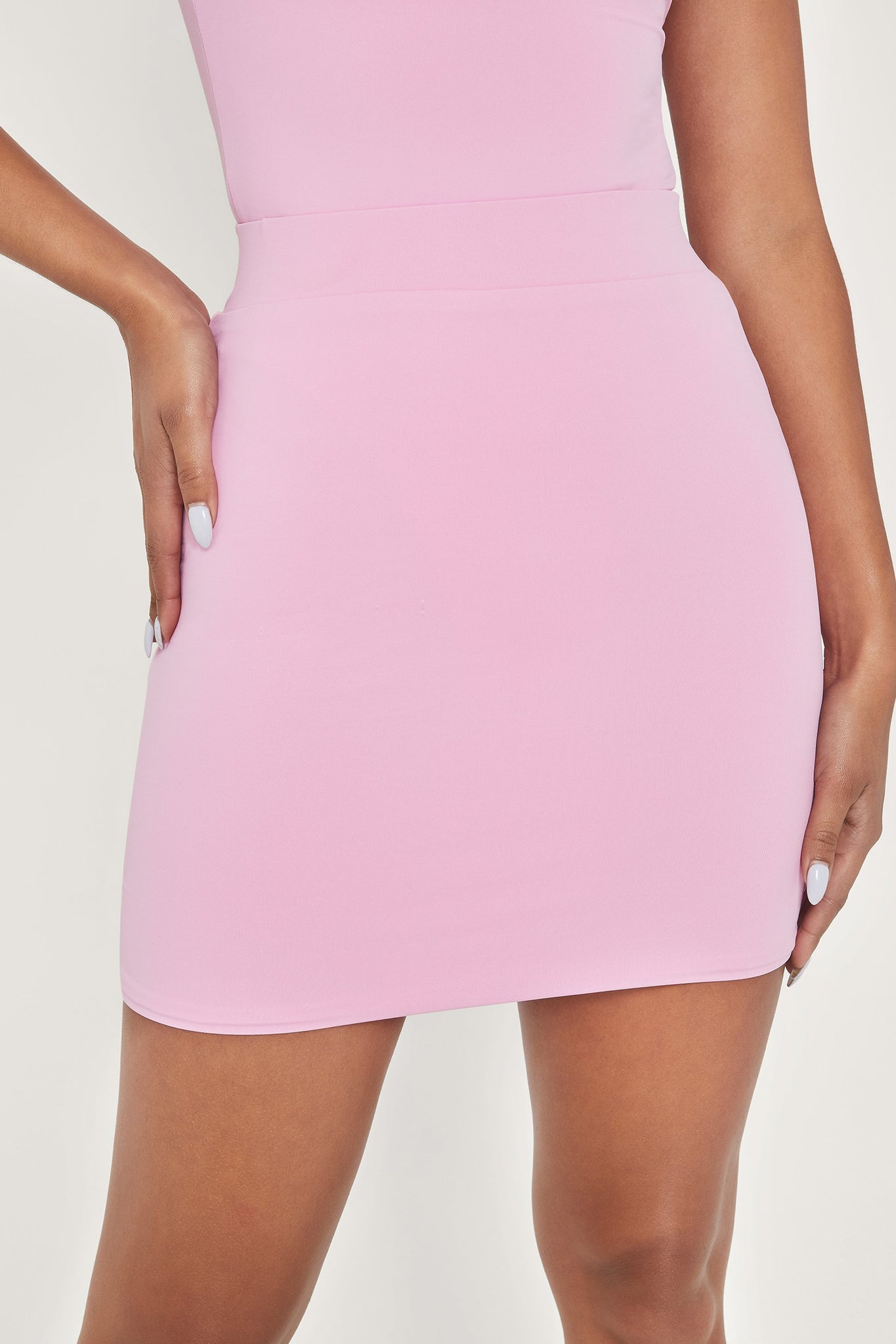 Harlow Mini Skirt - Pink - MESHKI
