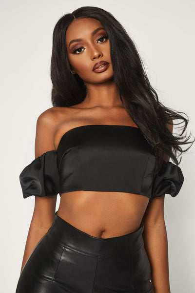 Amberley Puff Sleeve Top - Black