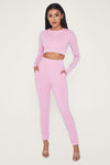 Amelia Fitted High Waisted Joggers - Lilac