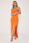 Celine Strapless Maxi Dress - Orange