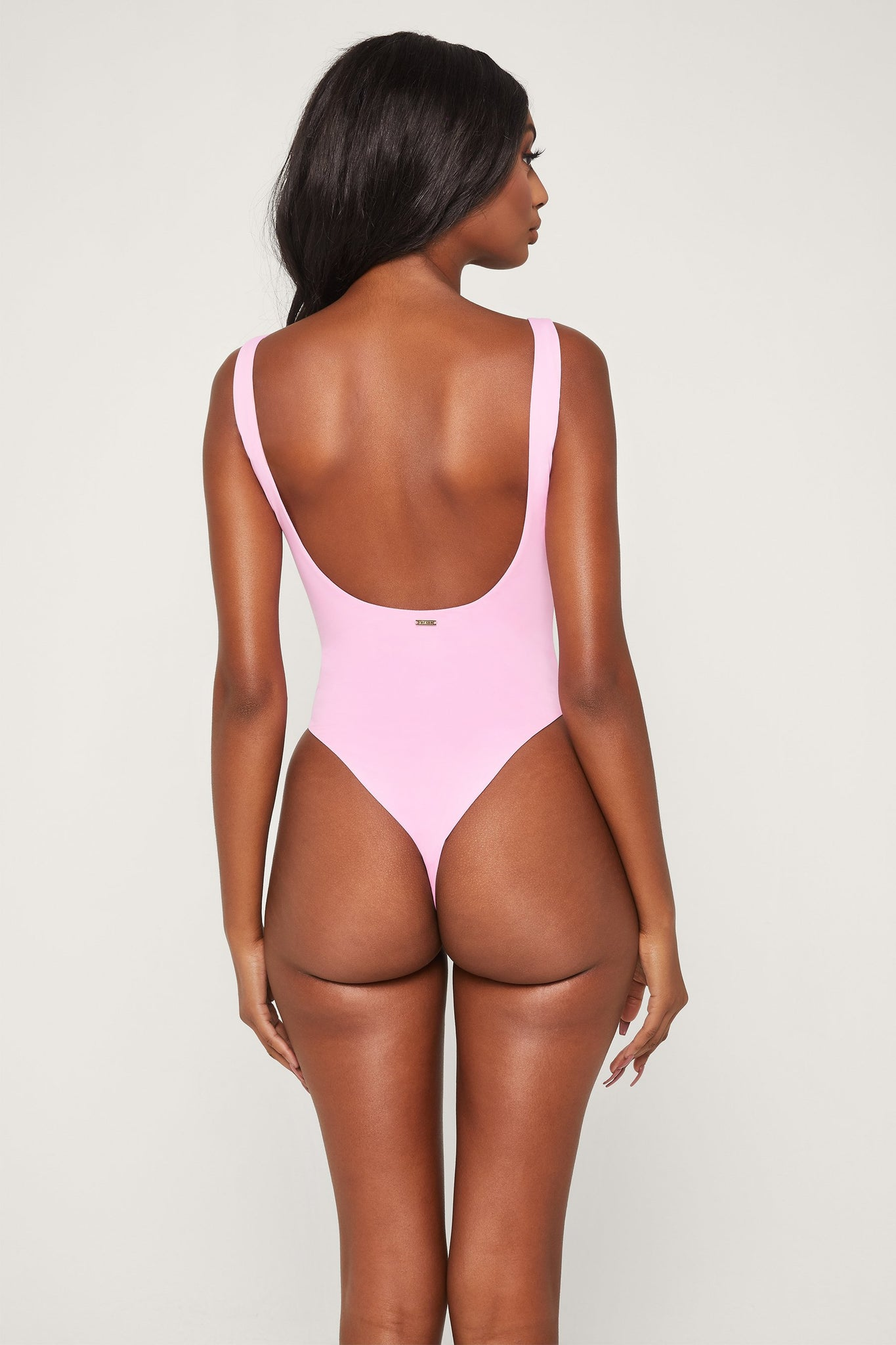 Abby Scoop Back One Piece Swimsuit - Pink - MESHKI