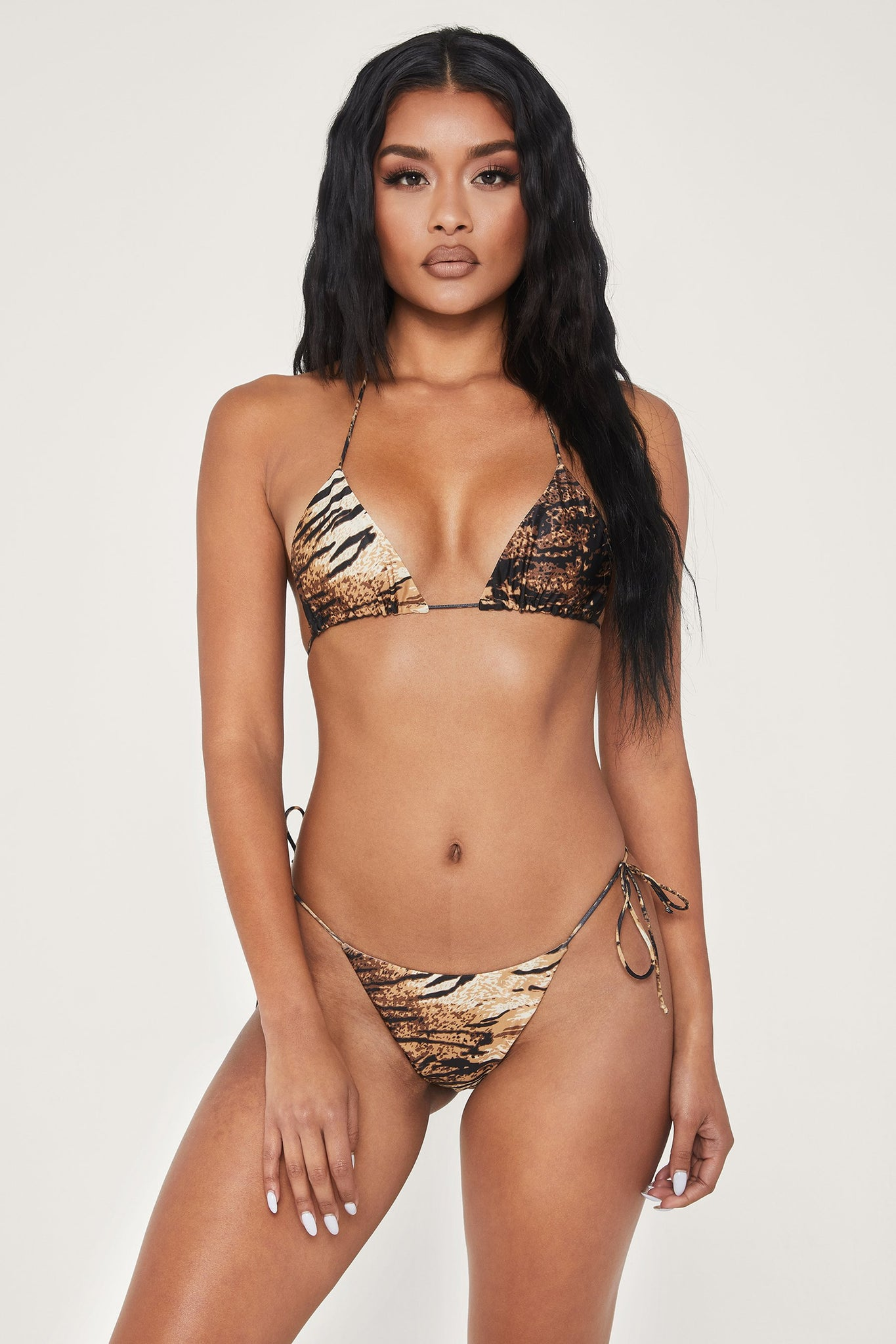 Amalia Tie Up Bikini Bottom - Tiger - MESHKI